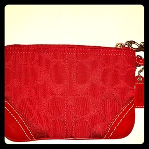 NWIT Red Coach Wristlet